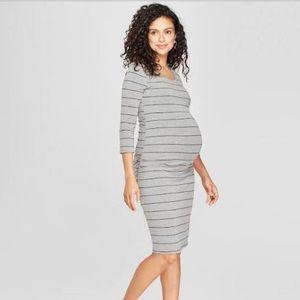 Dresses & Skirts - Grey stripe maternity dress size small